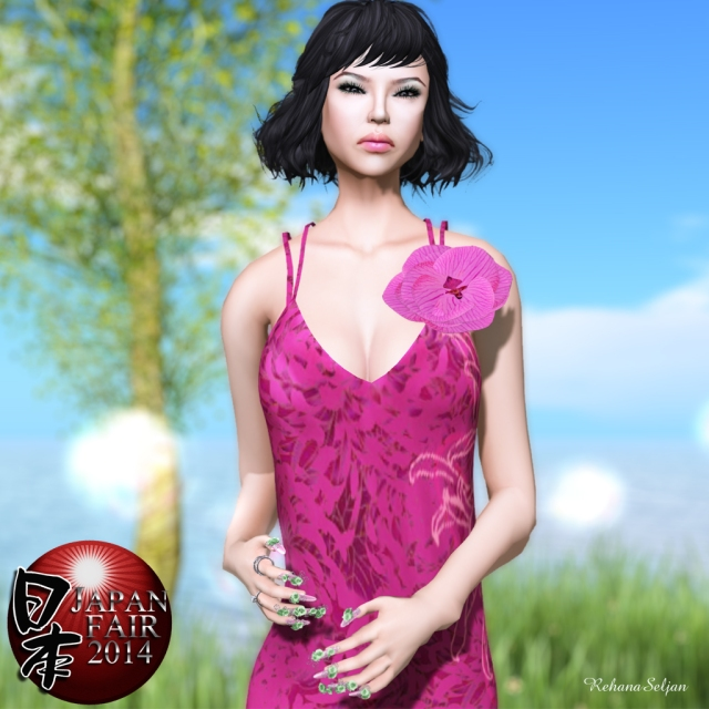 SHIKI - Orchid Fantasy Mesh Dress