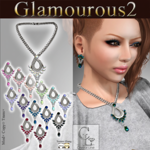 ((Crystal Line))Glamourous2 Accessory Set POP 100%