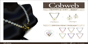 M's Avon-Cobweb Jewelry set MESH_15%