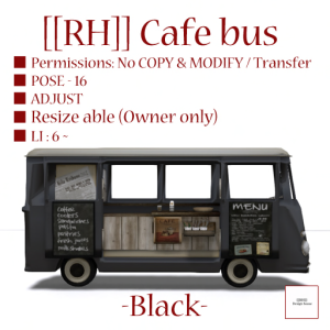 [[RH]] Cafe bus (Black) POP_100%
