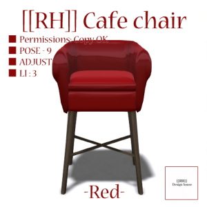 [[RH]] Cafe chair (RED) POP_15%