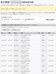 Transaction History of Japanfair account_0416_1