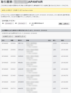 Transaction History of Japanfair account_0420_1